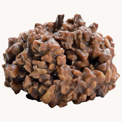 Pražené lískové oříšky v mléčné čokoládě