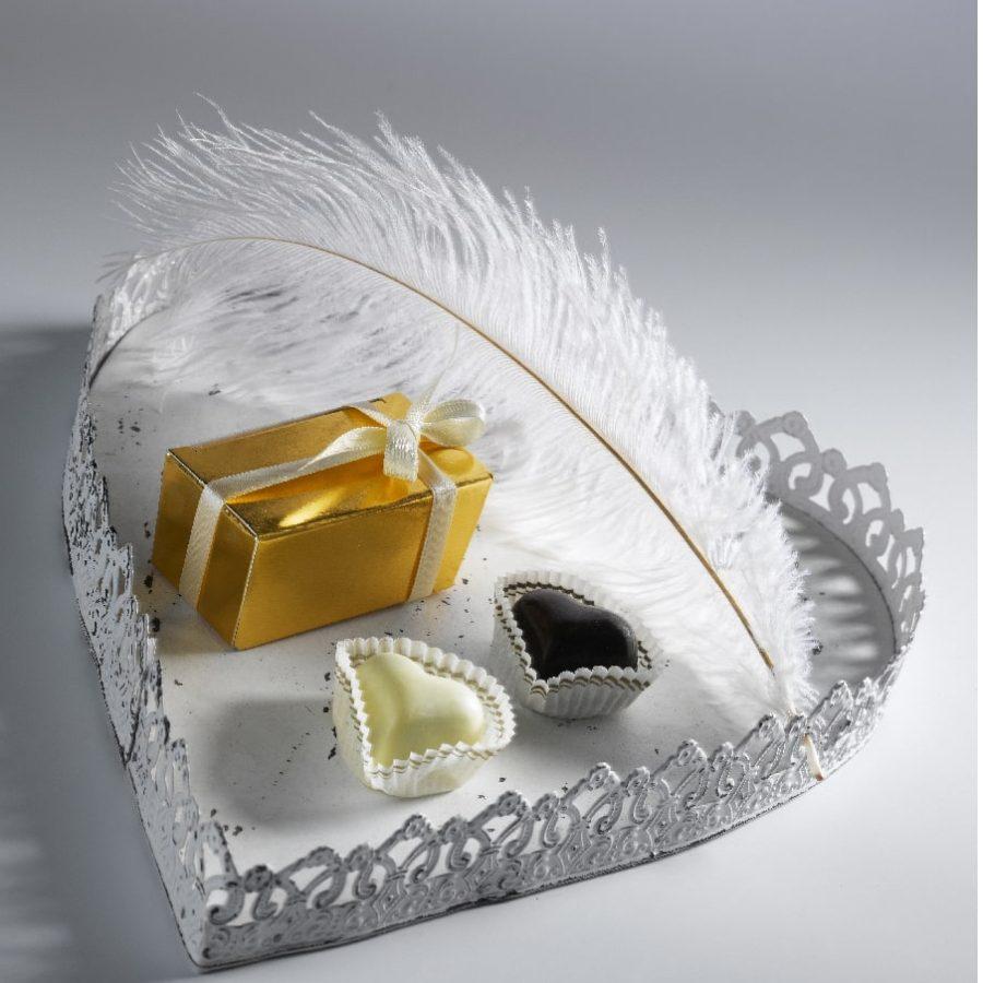 Svatební pralinky srdce a pralinky