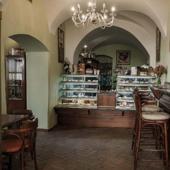Interiér kavárny Chocco Caffé